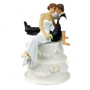 Love bride and groom wedding cake topper