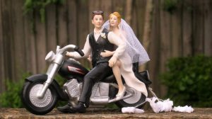 biker wedding cake topper