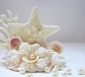sea shell wedding cake toppers