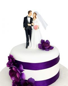 Conventional wedding cake topper