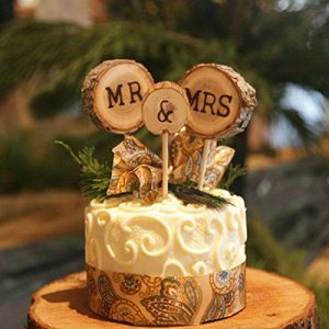 wood wedding cake topper