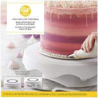 Height adjustable cake turntable