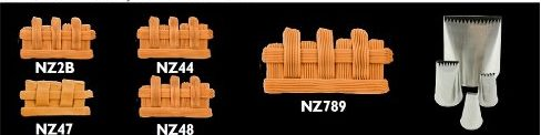 Basket weave cake piping nozzles