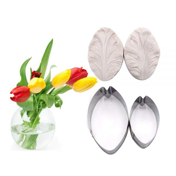 Tulip gum paste flower cutter