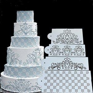 stenciling with cake paint