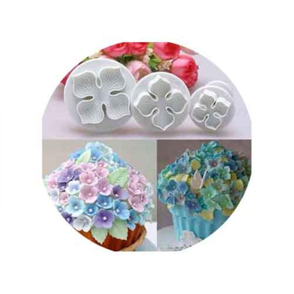 Hydrangea gum paste flower cutters