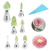 leaf cake piping nozzles