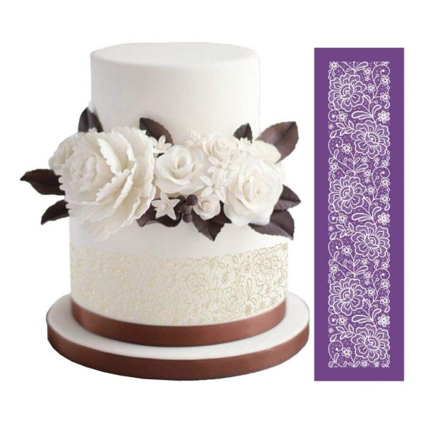 stenciled cake picture