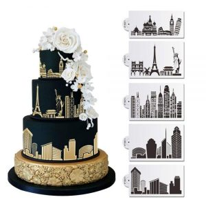 Cake stenciling acrylic molds