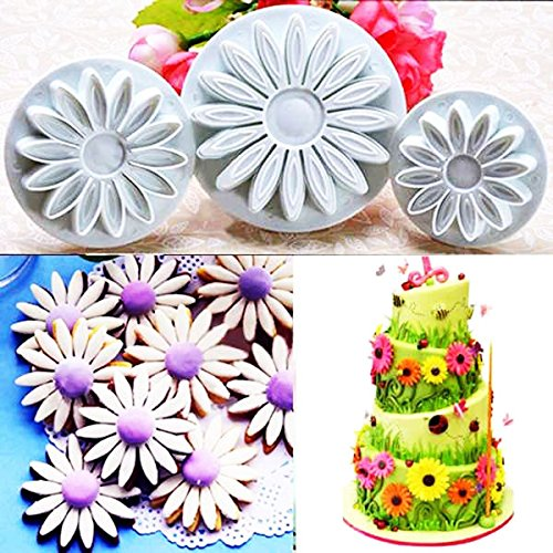 sunflower gum paste flower cutters