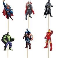 superheros children cupcake toppers