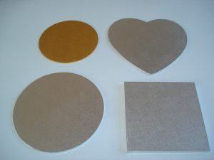 different shapes of cake boards