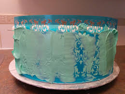 Royal icing and acrylic cake stenciling mold